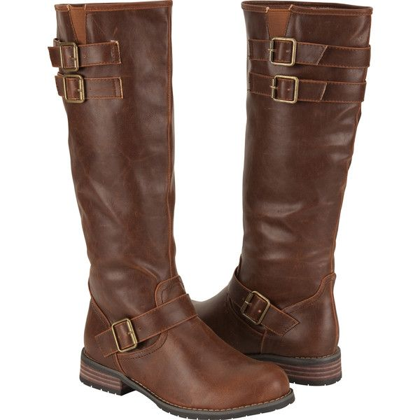 Military Womens Riding Boots ($45) found on Polyvore