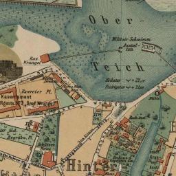 Старые карты Калининграда и Калининградской области | 1885 План Кенигсберга