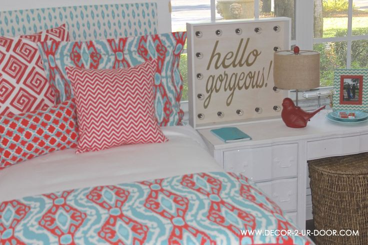 Decorating Ideas > 1000+ Images About A & Cs Room On Pinterest  Wall Fabric  ~ 152254_Dorm Room Ideas Teal