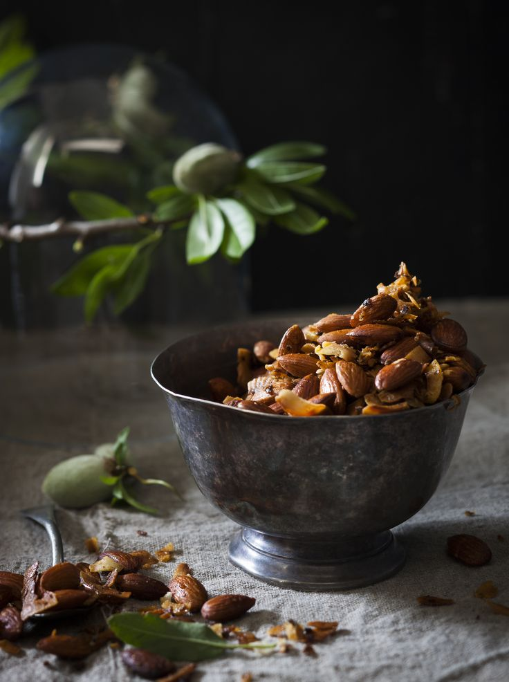 Spicy rose-and-coconut almonds