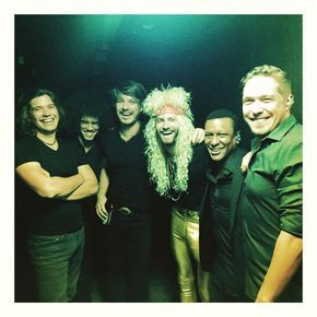 Hanson with Paul McDonald
