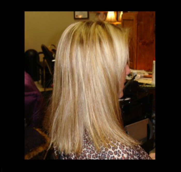 Light Blonde With Caramel Highlights With Caramel