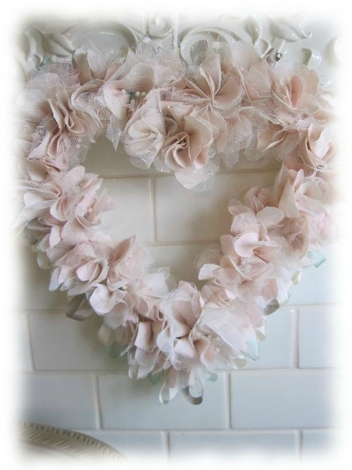 Shabby Chic Rose Astr 233 Or Shabby Chic Wreath Valentine