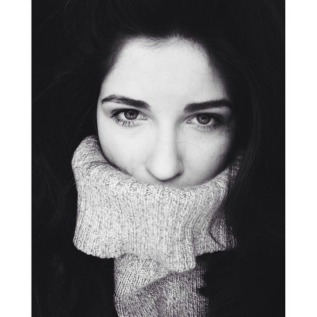 #so #shy #polishgirl #black #white #scared #eyebrow #grey #portrait