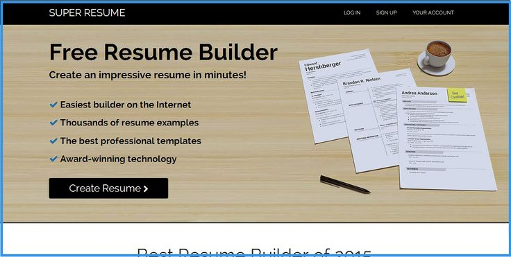 I try to check the system first when I find the homepage is - insuper resume builder