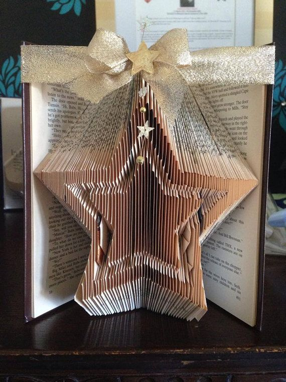 Book Folding Pattern for Double Star FREE by BookFoldingForever