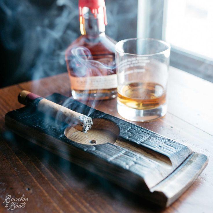 Bourbon Barrel Cigar Ashtray $25