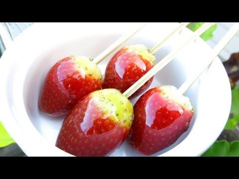 HOW TO MAKE TOFFEE STRAWBERRIES ...from the SIMPLE COOKING CHANNEL