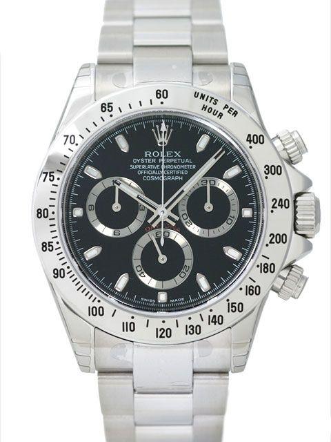 Rolex Daytona Stahl 116520 Schwarz