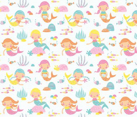 Mermaids fabric by petite_circus on Spoonflower - custom fabric