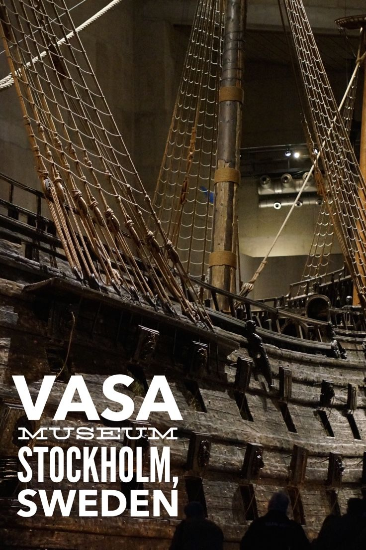 The still intact wooden Vasa ship at Stockholm's Vasa Museum is breathtaking in person.
