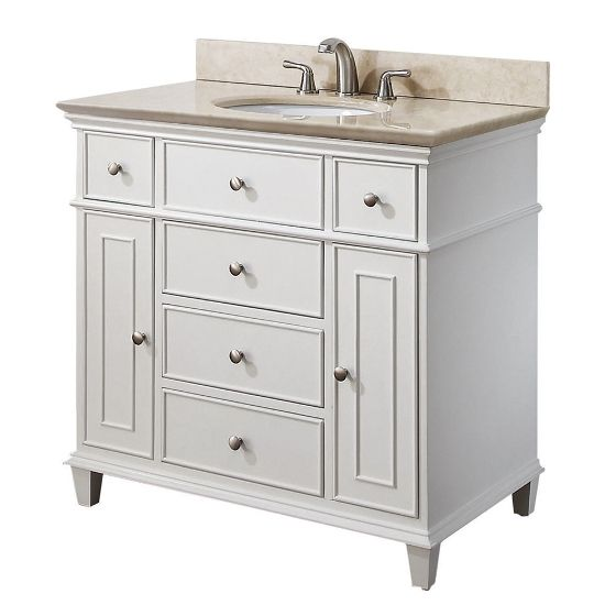 36 inch bathroom vanity with drawers