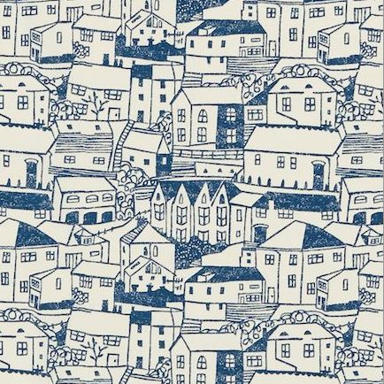 houses pattern by Sanderson
