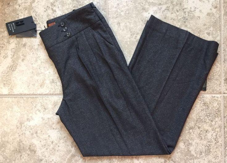 Betty Jackson Black for Debenhams Size 14 Sailor Fleck Trouser Pants #BettyJackson #DressPants