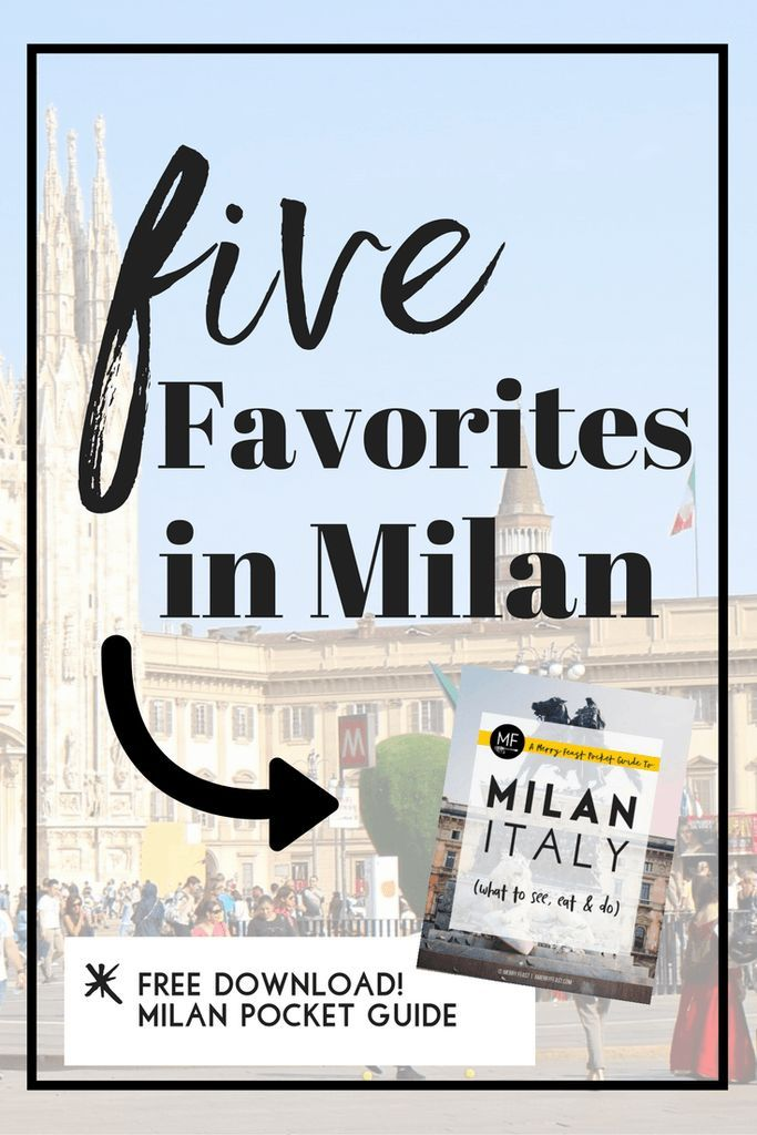 A mini-guide to some of our favorite places in the center of Milan, with the best places to eat & drink nearby. (Bonus- Milan Pocket Guidebook download!)   5 Favorites in Milan | amerryfeast.com