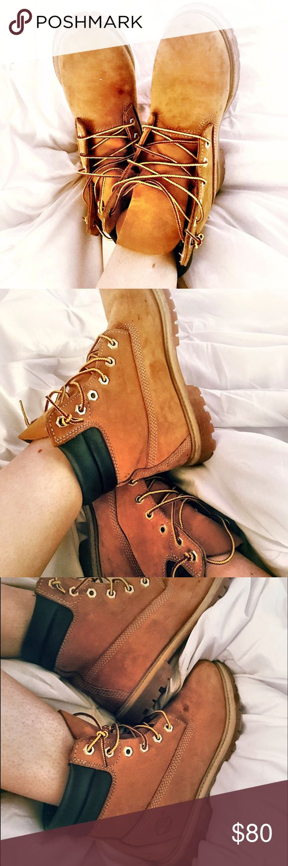 Beautiful Timberlands! 2015 Timberlands for sale. Sleek suede with leather ankle support. Like new shoe strings.  Would go great with a pair of shorts for the summer! Timberland Shoes Lace Up Boots