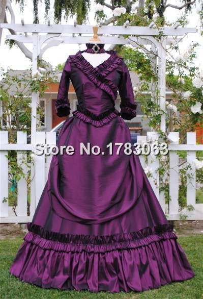 >> Click to Buy << Lower-Cost Satin Mina Dracula Bustle Gown/Southern Belle Gown Reenactment Theater Costume #Affiliate
