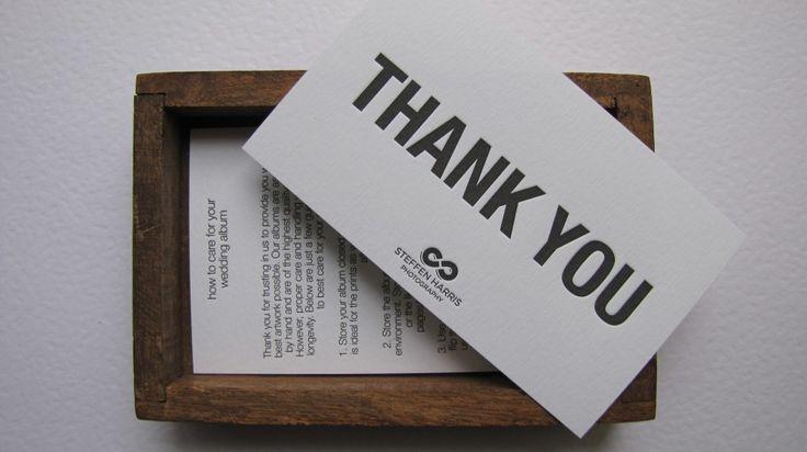 thank you notecard #letterpress