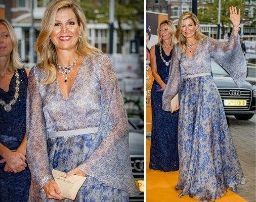 Koningin Máxima doet een 'Mathildeke' en laat decolleté van ... - Het Nieuwsblad: http://www.nieuwsblad.be/cnt/dmf20170906_03056290