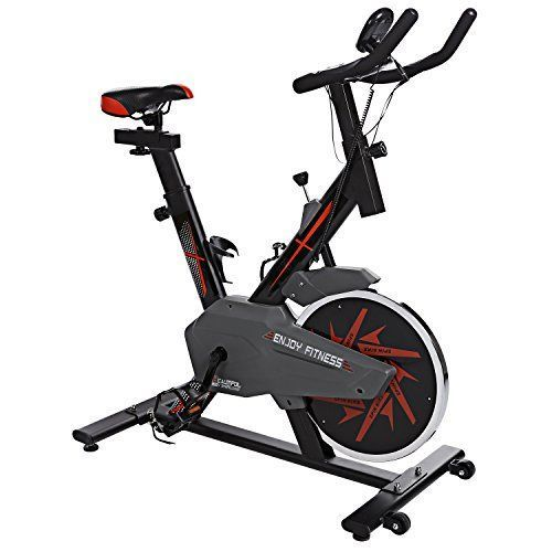 Spin Exercise Bike, Aerobic Training Cycle Spin Bike Fitness Exercise Bike Training Spinning Cycling Training Cardio Gym Home Indoor Studio Cycles Workout Machine [UK STOCK] #StudioWorkouts #ExerciseBikes