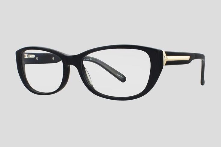 #Brillen van Reor. Dit is de Britton (art. nr. F10.705UBL), complete bril vanaf € 34,90. #Montuur van zwart acetaat. Verkrijgbaar in nog twee andere kleuren.
