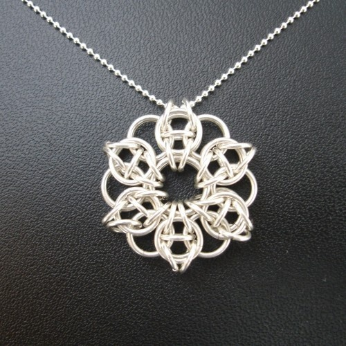 Sterling Silver Celtic Star Necklace by Lanza Creations on ArtFire: Chainmail Jewelry, Chainmail Idea, Chains Necklaces Silver, Handmade Chains Necklaces, Stars Necklaces, Chainmail Necklaces, Chainmaille Patterns, Chains Maill Necklaces, Handmade Jewelry