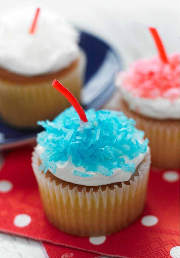 Firecracker Cupcakes – There's no such thing as winning a 4th of July potluck party, but you'll still feel like you've taken first place when you drop these cupcakes on the dessert table!