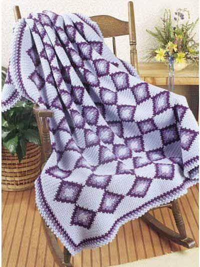 Crochet - Assorted - Royal Diamond Afghan