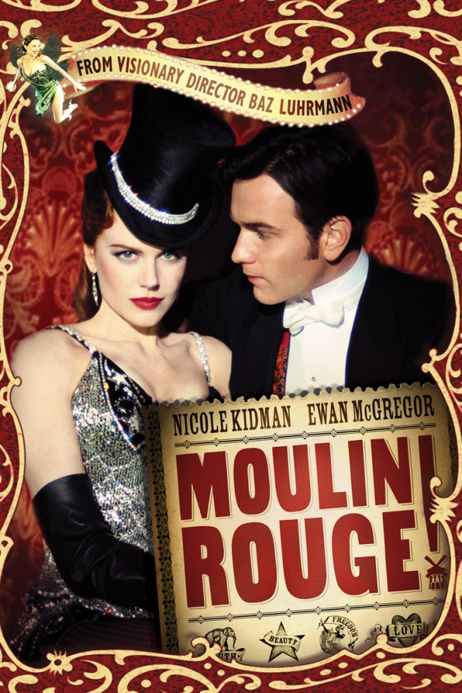 "Moulin Rouge - ""The greatest thing you'll ever learn is just to love and be loved in return"". Baz Luhrmann at his most creative. The characters of the Moulin are a colorful mix that make up an interesting backdrop for a musical love story. I can watch this over and over again!"