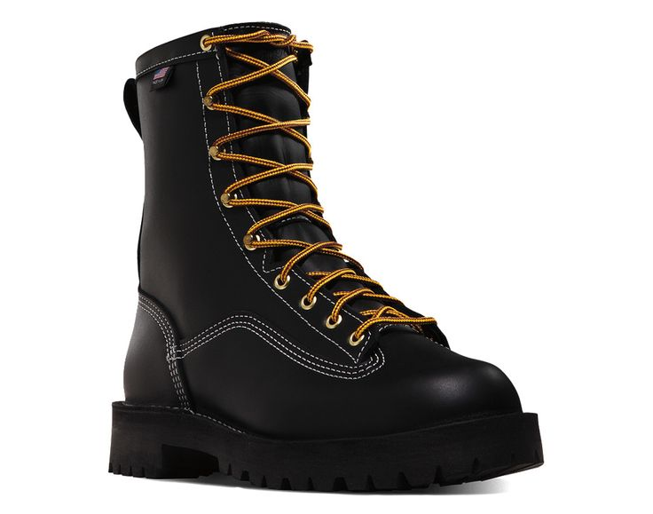 "Danner Super Rain Forest 8"" Black NMT Work Boot"