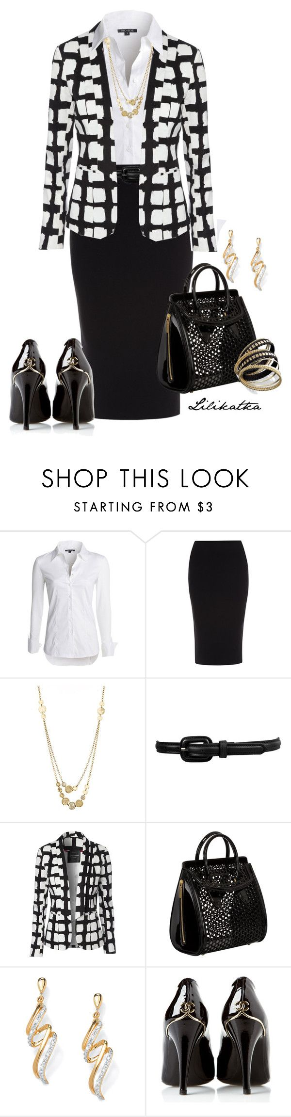 """""""Pivonka#1168"""" by lilikatka ❤ liked on Polyvore featuring NIC+ZOE, Roland Mouret, Lisa Stewart, Forever 21, Jane Norman, Alexander McQueen, Palm Beach Jewelry, Chanel and Bar III"""