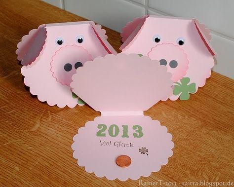 Wer wedelt denn durch die Silvesternacht? Es ist ein Glücksschwein - welche Pracht! Es jodelt fröhlich und kommt von mir - mit den besten Wü...