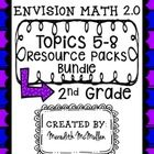 NEW enVision Math 2.0 2nd Grade Topics 5-8 Resource Packs Bundle