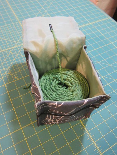 Pochette pour pelote de laine