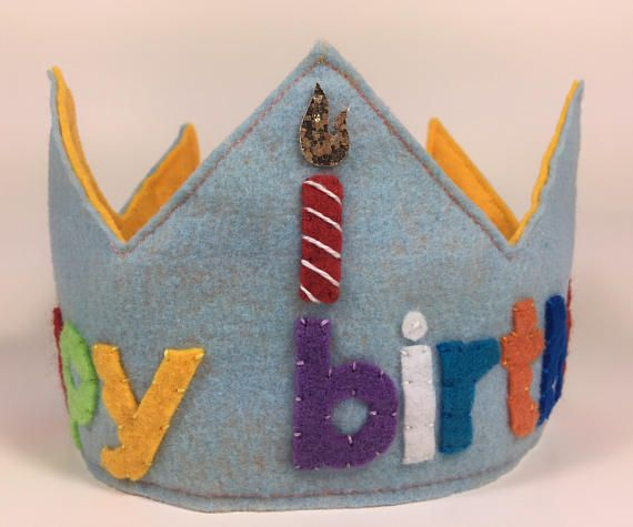 Happy Birthday Felt and Glitter Crown