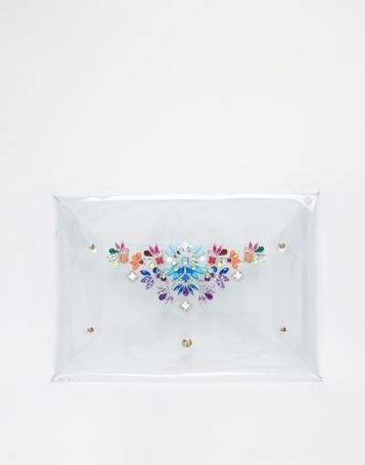 skinnydip envelope clutch with embellishment  multi #skinny #accessories #envelopebag #bag #handbag #covetme