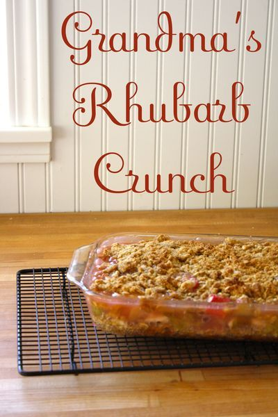 Grandma's Rhubarb Crunch - The Farm Chicks