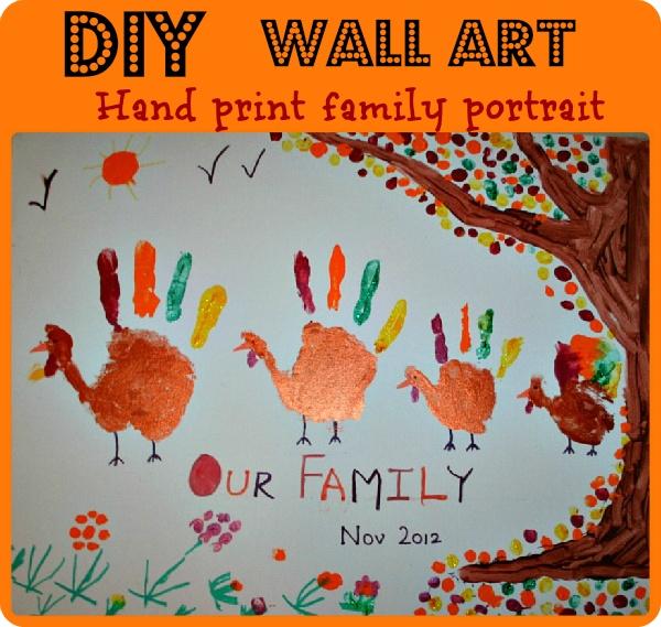 Thanksgiving Art–Handprint Family Portrait from Blog Me Mom