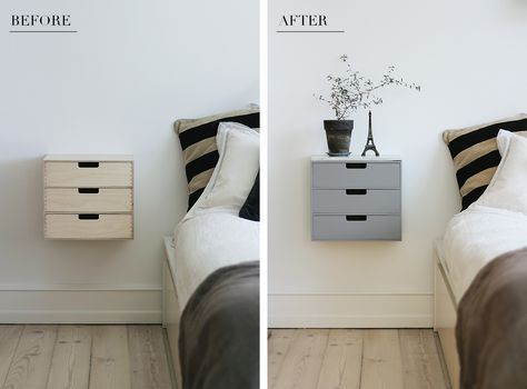 My latest DIY project: easy & cheap bedside table  Jeg har vret p