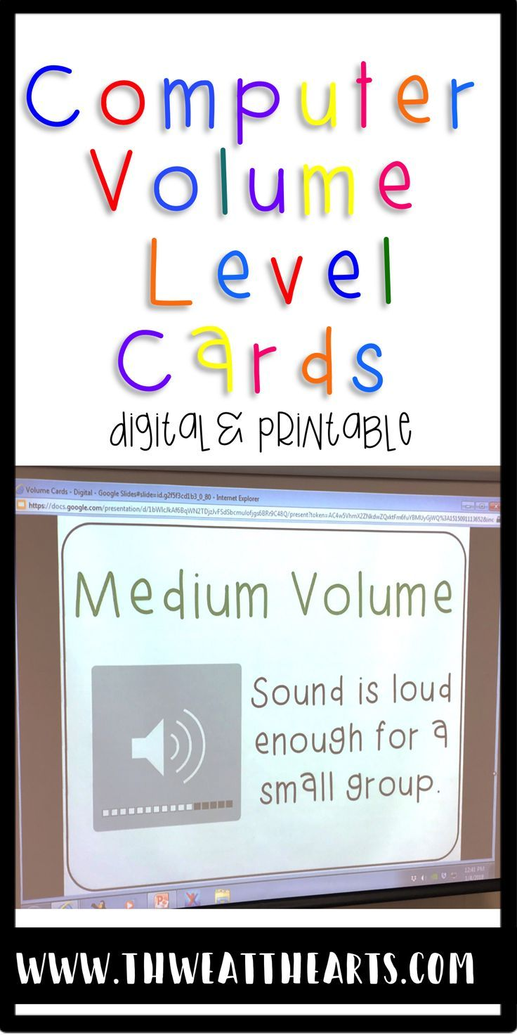 Help your computer lab or class manage their computer volume or speaking sound level with this Computer Volume Level Poster.