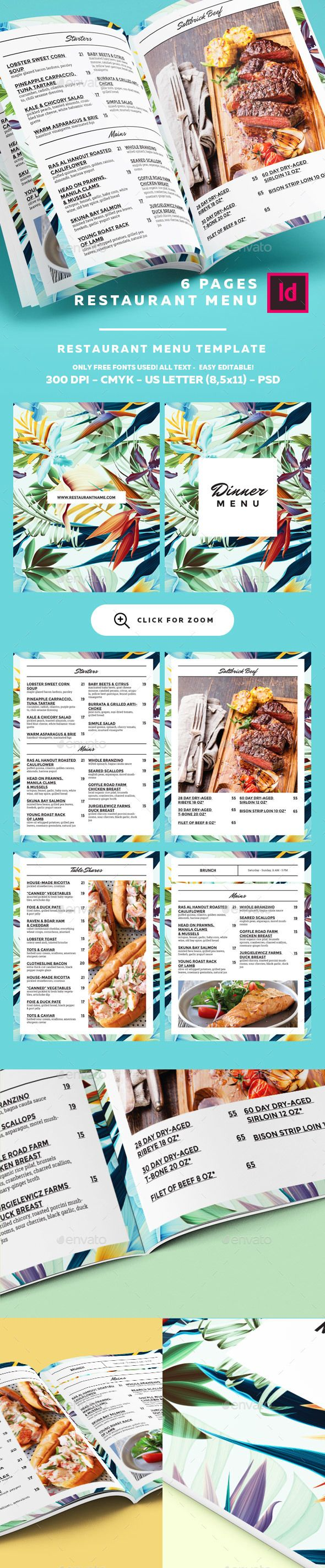 Delightful  Restaurant Menu Template  • Only available here ➝ http://graphicriver.net/item/restaurant-menu-template/16281471?ref=pxcr