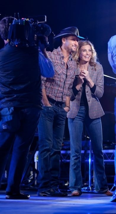 Tim and Faith during an interview for The Today Show Australia