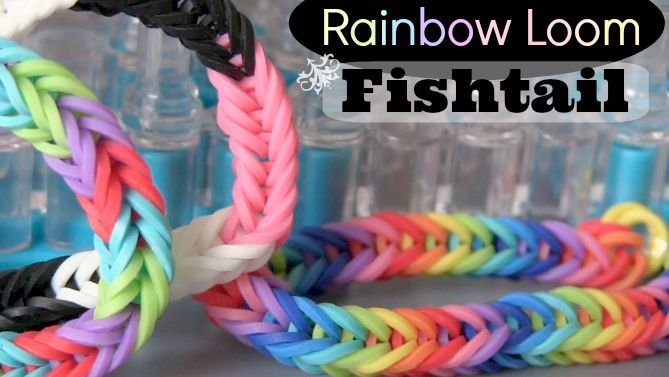 The Fishtail Rainbow Loom bracelet tutorial by SoCraftastic on YouTube. This is a very simple bracelet that can even be made without a loom - you only need two pegs.