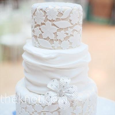 #Lace wedding cake