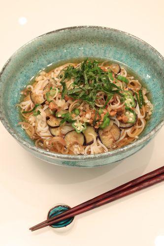 納豆とオクラのひやむぎ by oliveさん | レシピブログ - 料理ブログの ...