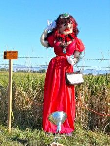 Let's hang out with scarecrows at the Stevensville Scarecrow Festival. #Montana