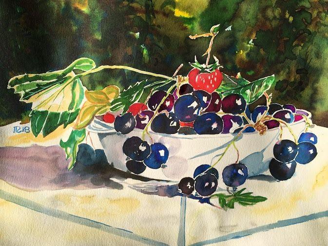 Cassis Groseilles En Rouge Et Noir Nature Morte Fruits