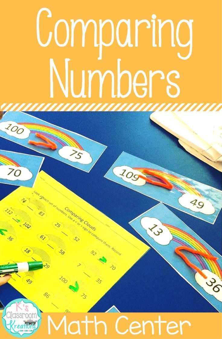 Greater Than and Less Than Math Center   Pinterest   Comparing ...