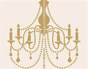 chandelier stencil home decor - yahoo Image Search Results
