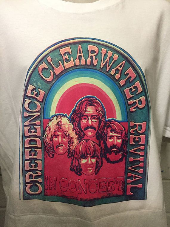 CREEDENCE CLEARWATER revival shirt by BLACKANDWHITETSHIRTS on Etsy